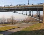 Коммунальный мост через Обь.